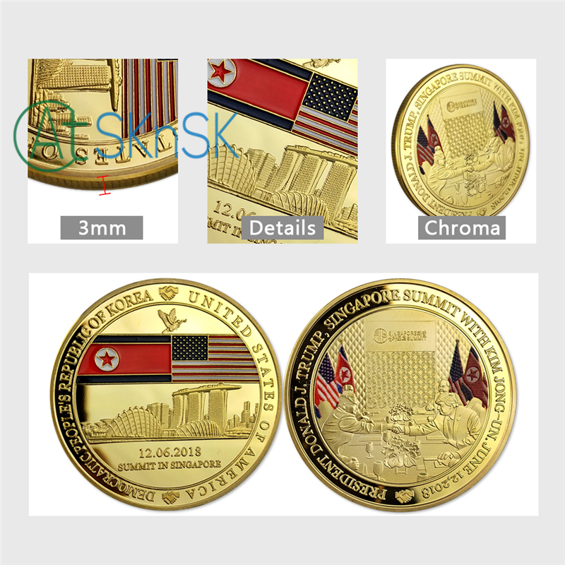 Donald Trump Challenge Coin 2018 Gold Plated Presidential Trump Coins  Collectibles Gift Home Decoration