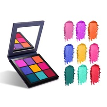 Highly Pigmented Obsessions 9 Colors Glitter Eyeshadow Makeup Pallete Matte Eye shadow Palette Shimmer Diamond Eyeshadow Powder