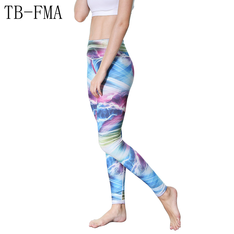 Floral Print pants women sportswear High Waist Compression Yoga Pants Wide Waistband Quick Dry Workout Yoga Leggings Fitness