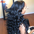 Secret girl cabelo virgem onda profunda brasileira não transformados 3 feixes Grau 7a Onda Profunda Do Cabelo Humano Tecer Cor Natural Boa qualidade