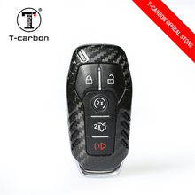 ФОТО carbon fiber key case cover shell for ford fusion mondeo mustang f-150 lincoln edge explorer mk 5 button car styling
