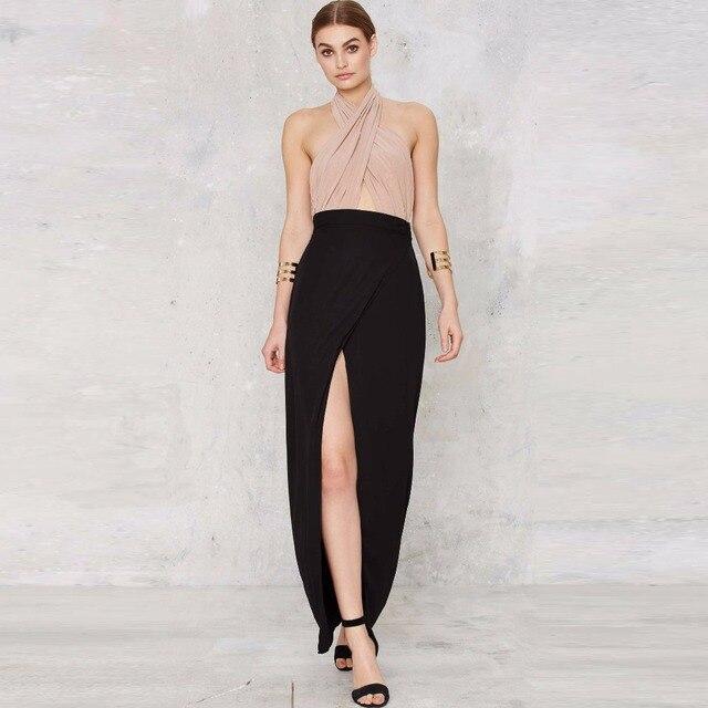 Aliexpress.com : Buy Custom Made Black Long Maxi Skirt Empire ...
