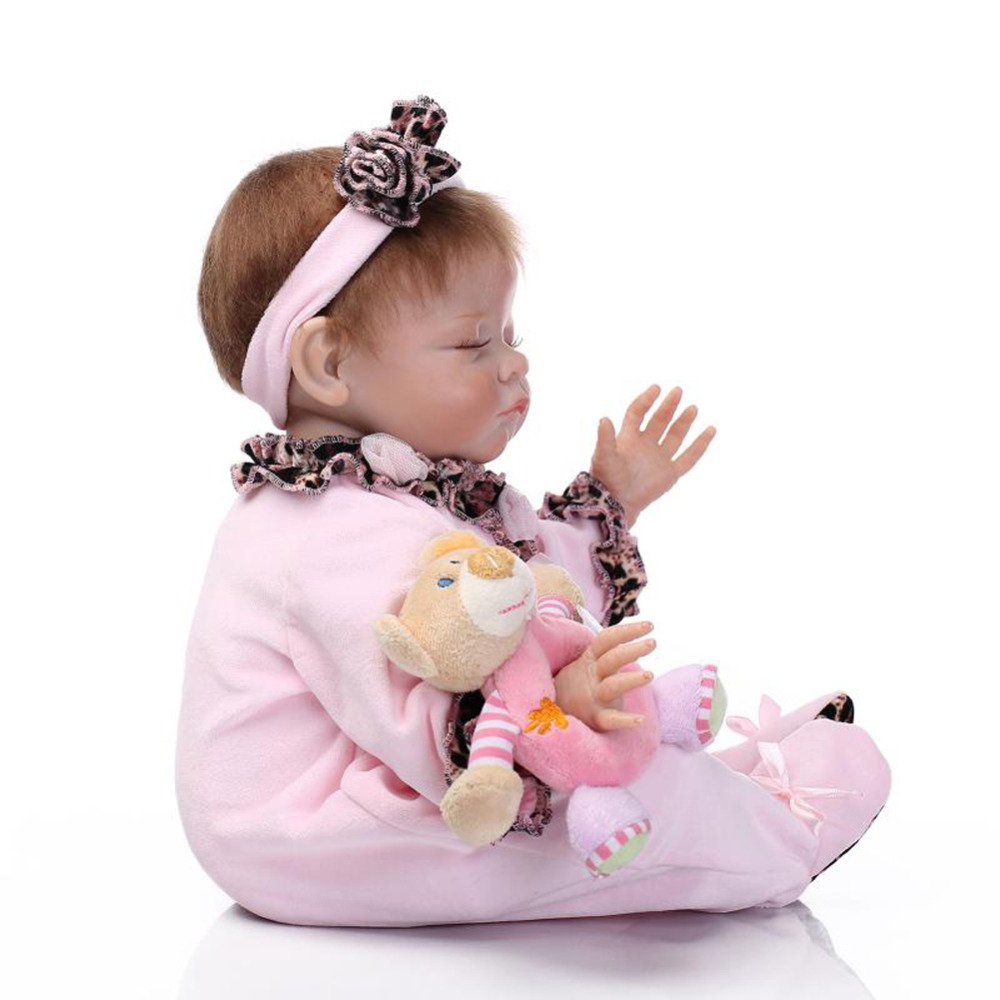 20 silicone reborn baby realistic sleeping girl doll kids playhouse toys shooting model decorations in dolls from toys hobbies on aliexpress com
