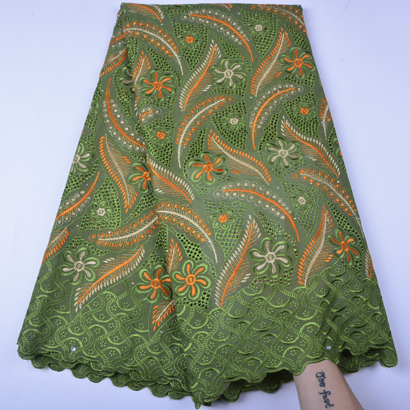 Nigerian Green Lace Fabric 201 African Swiss Voile Lace High Quality Swiss Voile Lace In Switzerland