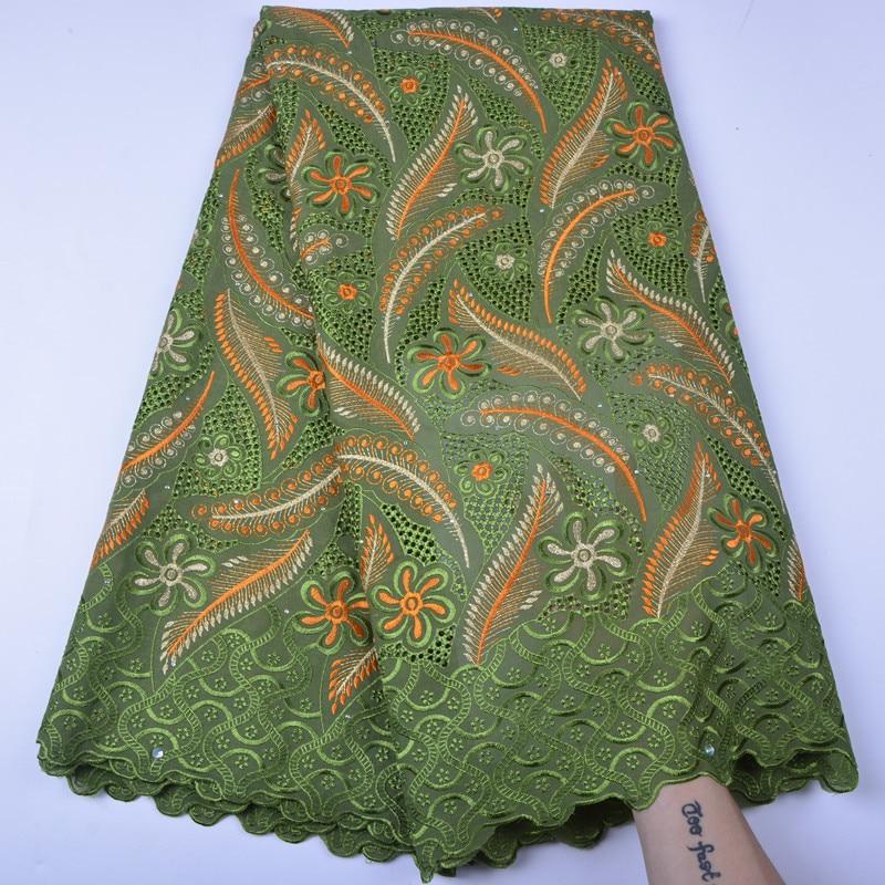 Nigerii zielona koronki tkaniny 201 afrykański szwajcarski woal koronki szwajcarska koronka wysokiej jakości w szwajcarii dla afryki suknia ślubna w Koronka od Dom i ogród na  Grupa 1