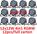 Hot Sale 2016 Led Par Light 12x12W 4in1 RGBW Ultra-bright Slim Flat Par Can Stage Lights DMX Controller DJ Laser Disco Equipment