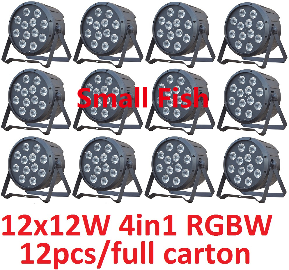Hot Sale 2019 <font><b>Led</b></font> <font><b>Par</b></font> Light <font><b>12x12W</b></font> 4in1 RGBW Ultra-bright Slim Flat <font><b>Par</b></font> Can Stage Lights DMX Controller DJ Laser Disco Equipment image