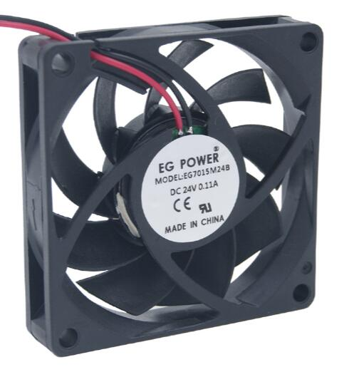Wholesale: EG POWER 7CM 24V EG7015M24B 7015 2 line DC fan double ball industrial fan