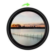 37 49mm 52mm 55mm 58mm 62mm 67mm 72mm 77mm 82mm 86 Variable Fader ND filtre densité neutre ND2 400 filtre pour Canon Nikon