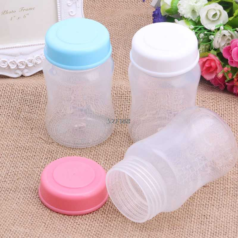 Wide Mouth Newborn Baby Cup Feeding Bottle Leak Proof Caps Cover BPA Free New