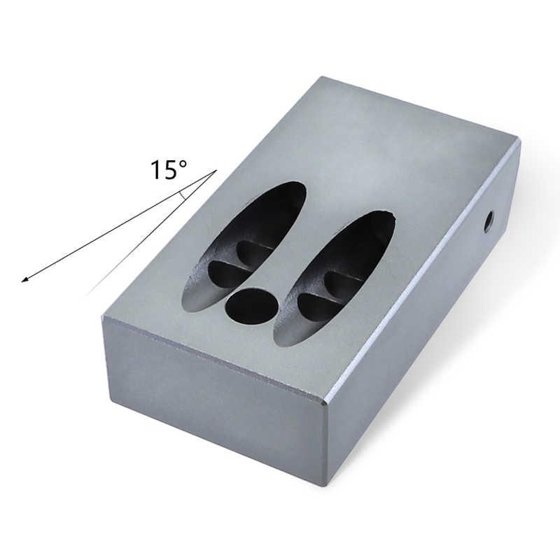 Lubang Saku 9.5 Mm Lubang Bor dengan Besar Serbuk Gergaji Penghapusan Lubang Aluminium Alloy 6061 Kayu Jig Alat untuk pertukangan