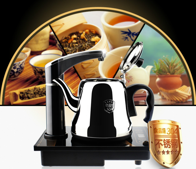 Electric kettle Automatic upper water electric 304 stainless steel with pumping Safety Auto-Off Function automatic upper water electric kettle pump 304 stainless steel tea set