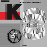 Motorcycle inner wheel Stickers rim reflective decoration decals Fit YAMAHA super TENERE