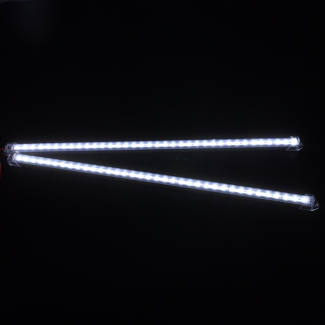 2pcs 50cm 5630 36LED Car Interior Strip Light Bar Van Caravan Cold White flexible Car indoor home decoration