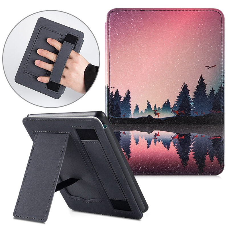 BOZHUORUI Case For Amazon All-new Kindle 10th Generation Basic Version 2019 (Model J9G29R) Handheld Stand Portable Smart Cover