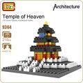 Ideas del bloque de diamante loz bloques de construcción arquitectura antigua del templo del cielo de beijing china parque birck juguete modelo diy regalo 9364