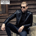 New 2017 leather jacket men winter leather clothing casual slim plus velvet motorcycle stand collar leather jacket