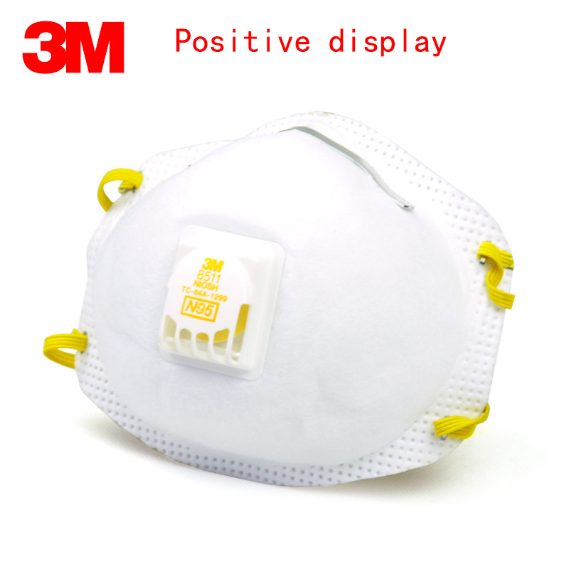 Dust Respirator Mask Valve A N95 3m With Breathing 8511cn