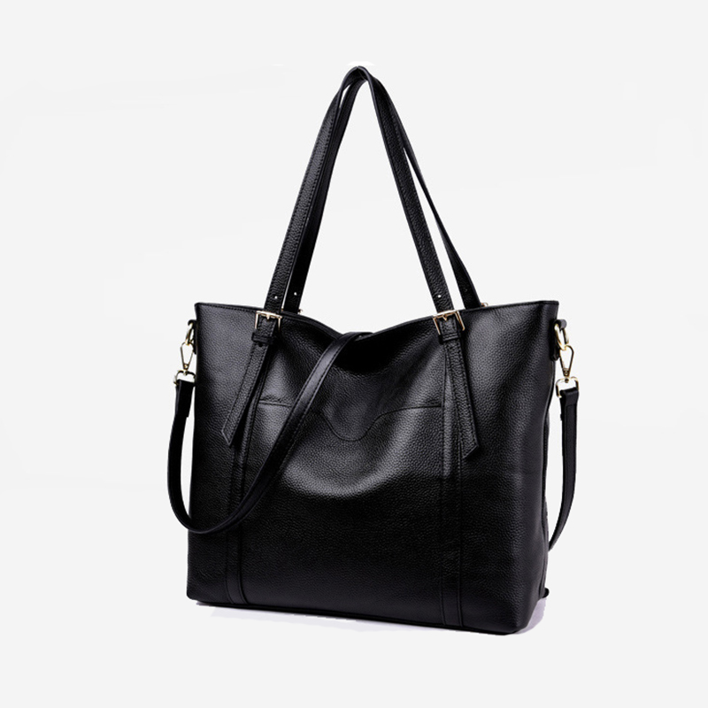 60 Off Large 100 Natural Cow S Skin Tote Bag Women Genuine Leather Handbag Shoulder Crossbody A180 In Bags From Luggage On