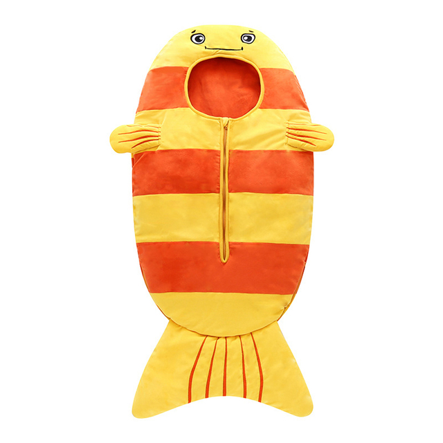 8ffc3f3b6285 Newborn Baby Sleeping Bag Cartoon Goldfish Printed Bed Swaddle Blanket Wrap  Bedding Against The Cold In All Seasons