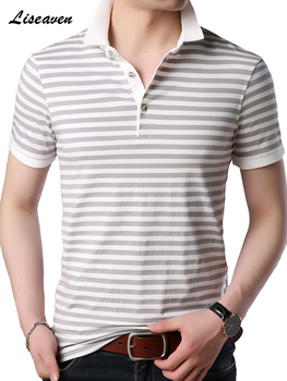 292611bfec3 Liseaven 2019 nuevos Polos de verano para hombre, camisa de manga corta,  Polos con estampado de rayas, camisetas de Polo para hombre, Tops y  camisetas