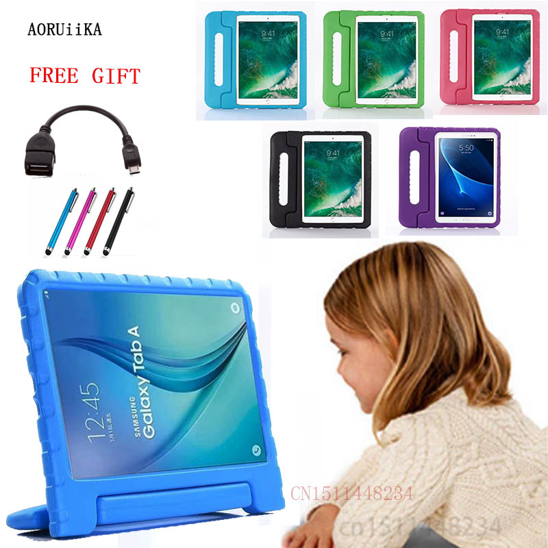Case Shockproof Galaxy Samsung Tablet Cover Handle SM-T580 EVA For Tab-A A6 Stand Rugged-Proof