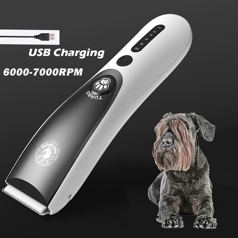 100-240V Professional Electric Pet Cat Dog Hair Clipper Grooming clipper USB charge animal hair Trimmer Shaver Haircut Machine