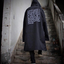 VETEMENTS POLIZEI ÜBERGROßEN Graben Regen Mantel Bigbang GD Brief Seoul Männer Windjacke Wasserdichte KANYE Hip Hop Skateboard Jacke