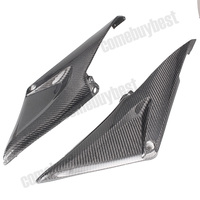 2PCS Carbon Fiber Tank Side Cover Panels Fairing for Honda CBR600RR 2005 2006 05 06 Motorcycle Parts Black