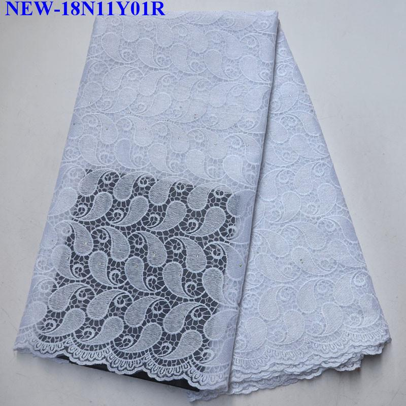 White Embroiery Lace Fabric Latest High Quality African Tulle Lace Fabric 2018 Nigerian French Lace Fabric