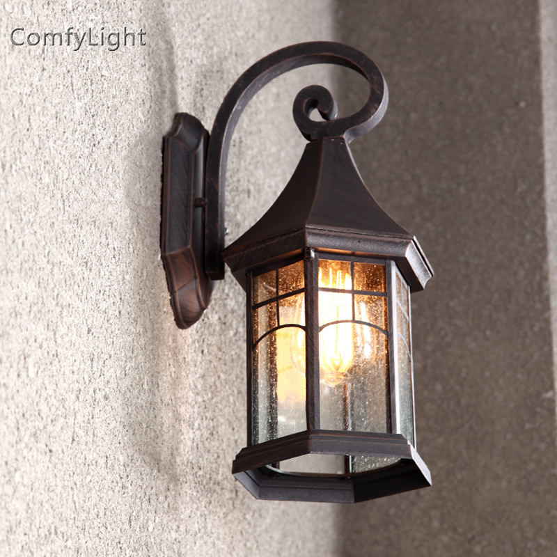 sconce da lampada de vidro do vintage lampada de parede ao ar livre levou villa designer