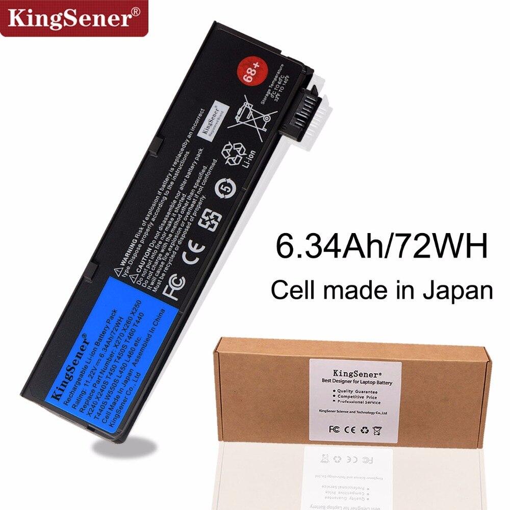 KingSener Batterie D'ordinateur Portable pour Lenovo Thinkpad X270 X260 X240 X240S X250 T450 T470P T450S T440S K2450 W550S 45N1136 45N1738 68 +
