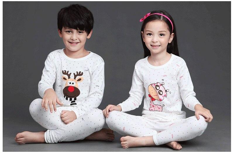 295666274cd5 V TREE Children s Pajamas Cartoon Boys Sleepwear Cotton Pyjamas Kids ...