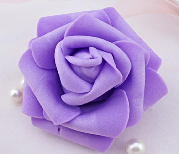 100 teile / los 6 cm Schaum Rose Köpfe Künstliche Blumenköpfe Mint - Partyartikel und Dekoration - Foto 3