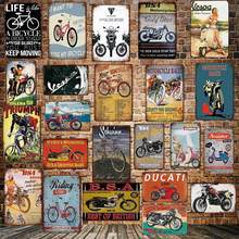 [ WellCraft ] Riding Motor BSA bicycle ducati Metal Signs Classic Wall Poster Plaque Painting Bar Shop Decor 20*30 CM LT-1756