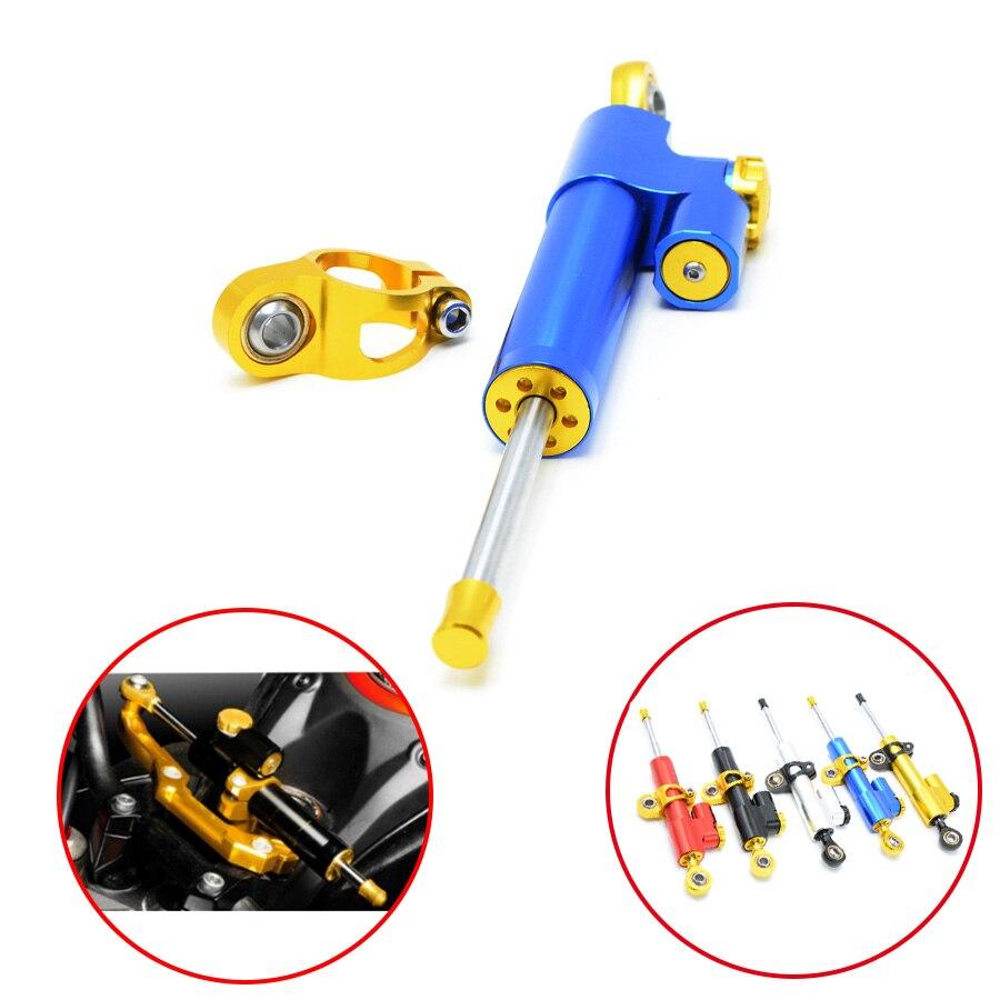 Universal Motorcycle Damper Steering Stabilizer Moto Linear Safety Control For Honda Interceptor 800 CBR600F4i CBR500R CBF190R