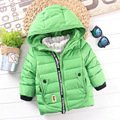 1-4años Grueso Pato Blanco Abajo Abrigos Chaqueta De invierno para Niño para Los Niños Cálido Abrigo ropa de abrigo Ropa de Bebé de la Alta Calidad con Cap