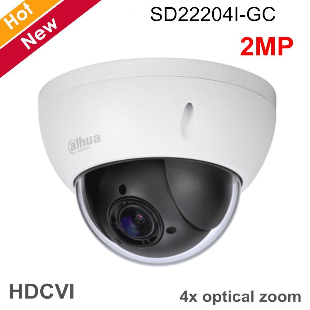 Dahua PTZ камера SD22204I GC 2 мегапиксельная 1/2.7 cmos 4x камера слежения PTZ HDCVI камера 2,7 мм 11 мм фокусное расстояние для наружного ip камера видеонаблюден
