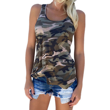 Camouflage T-Shirts Tank Tops 2018 New Summe S-5XL Womens Sleeveless Camo T Shirt Tees Tanktops Brand Clothing