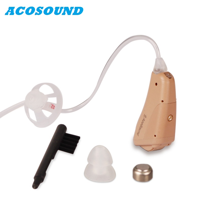 Acosound 230OF Digital Hearing Aid Small Behind The Ear Hearing Aids Sound Amplifier Ear Care Tools Hearing Devices ce fda approved best digital tone hearing aids aid behind the ear sound amplifier brand new