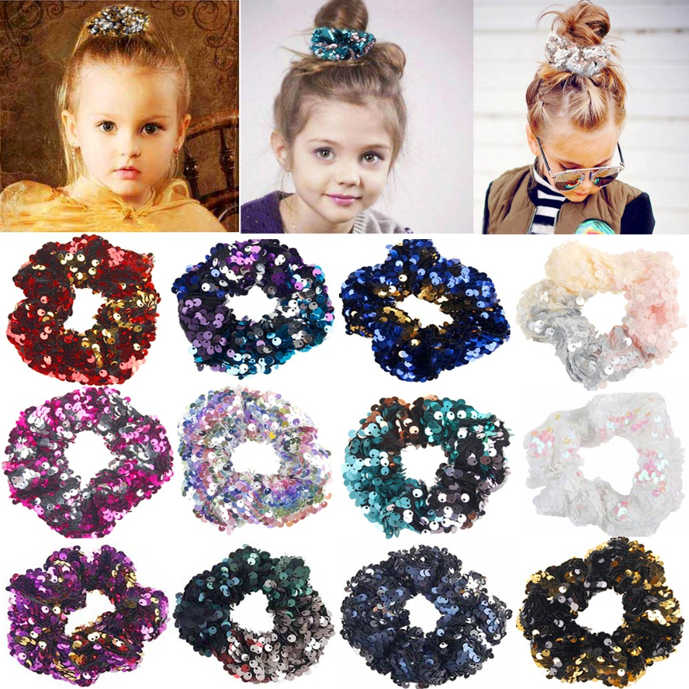 New Assorted Colored /& Black Pack Of 12 Plain Velvet Scrunchie Bobble Hair Tie