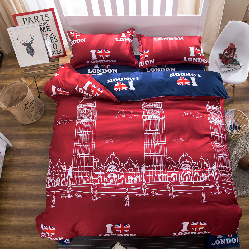 Matrimonio Bed Cover : London building duvet cover queen size bedding set quilit cover