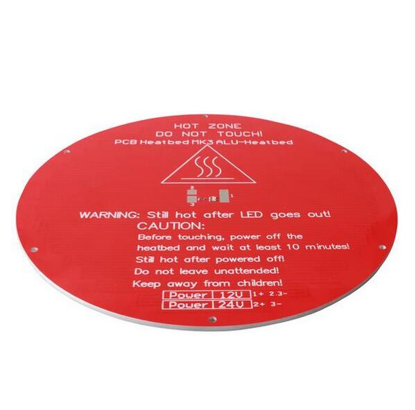 3d Printers & Supplies 12v 220*220*3mm Red Round Aluminum Heated Bed 3d Printer Part Parts & Accessories