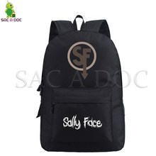 Sally Face Daily Backpack Laptop Backpack School Bags for Teenage Boys Girls Casual Backpacks Hot Game Travel Shouler Backpack