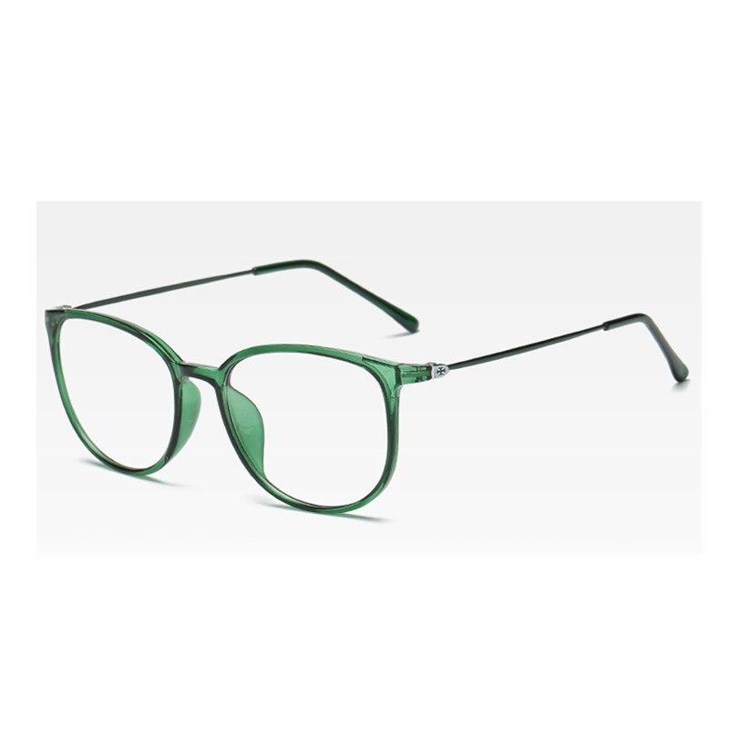 2019 Retro Square Glasses Frame Women Transparent Optical Lenses Fine Side Ultra Light Glasses Frame Men's Black Green Glasses