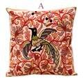 Модная подушка для сиденья с принтом птицы  подушка для дома  гостиной  кровати  вышитая Цветочная наволочка  домашний текстиль