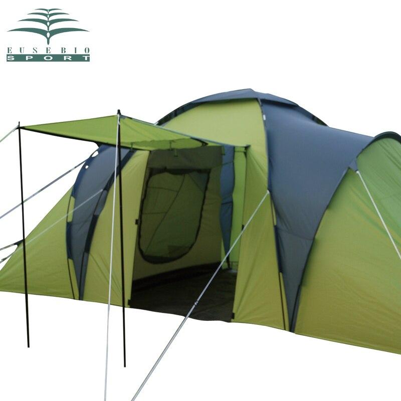 Grandes tentes extérieures 6-8 personnes chambre double pluie professionnel grande tente personnes camping 1 hall 2 chambre à coucher