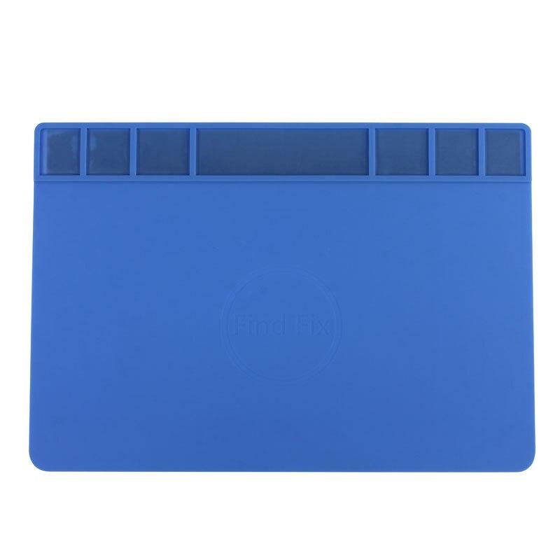 Large Size Heat-resistant Silicone Soldering Mat Magnetic Repair Desk Pad Phone BGA Repair Station Maintenance Platform