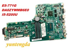 Original for ACER E5-771 E5-771G motherboard I5-5200U CPU GF840M 2GB DA0ZYWMB6E0 NBMNV11007 tested good free shipping connectors
