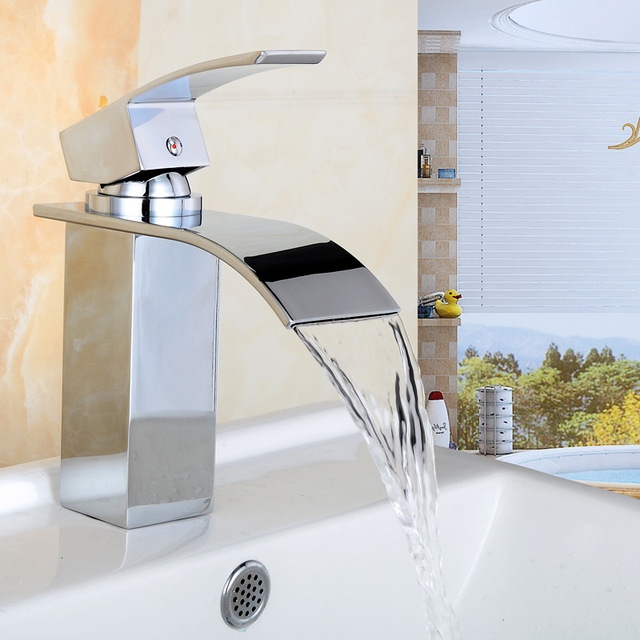 2015 Waterfall mirabelle Sink Faucet, kitchen plumbing sink water ...